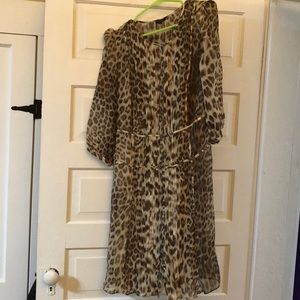 NWOT Sheer animal print Talbots Dress